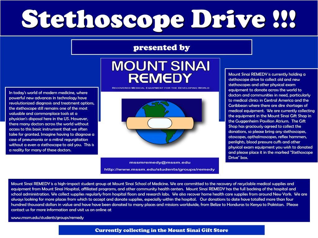 Stethoscope Drive !!!