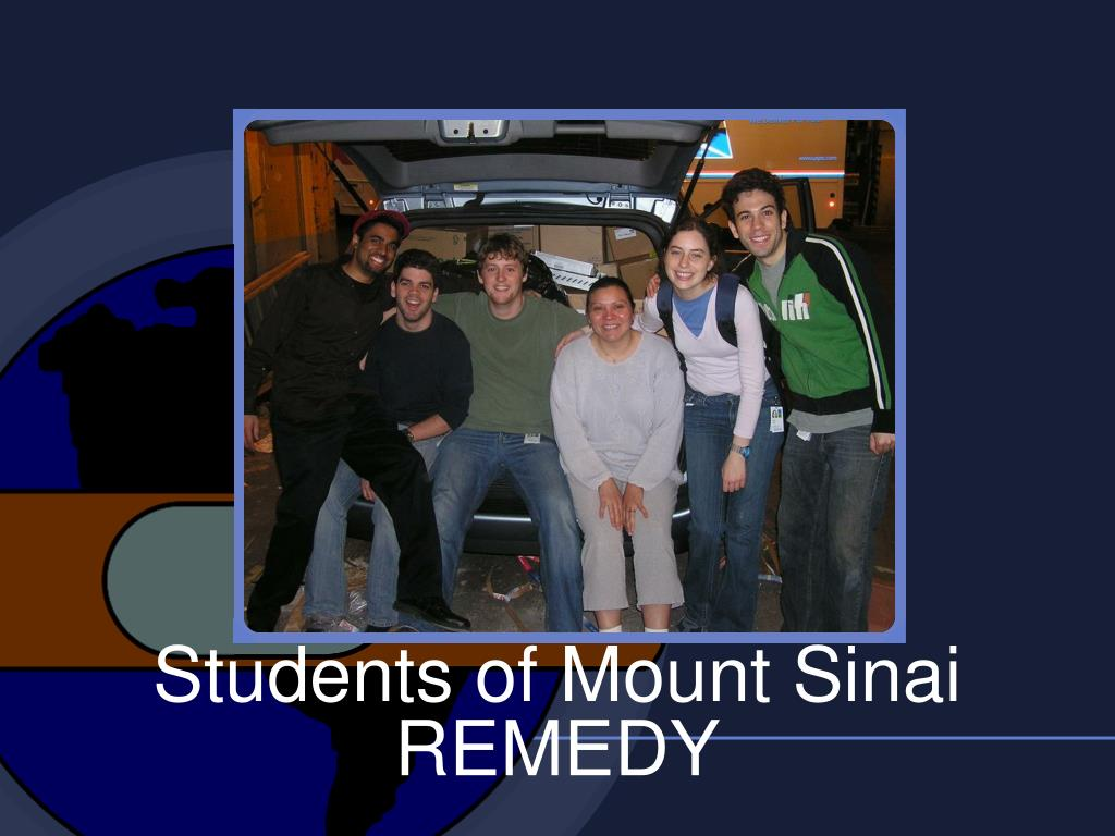 Students of Mount Sinai REMEDY