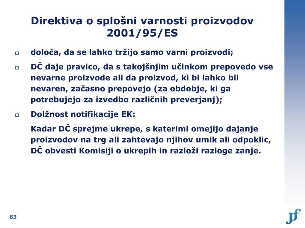Direktiva o splošni varnosti proizvodov 2001/95/ES