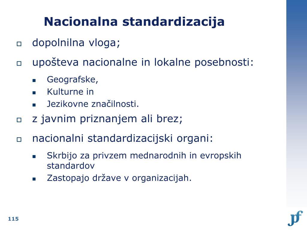Nacionalna standardizacija
