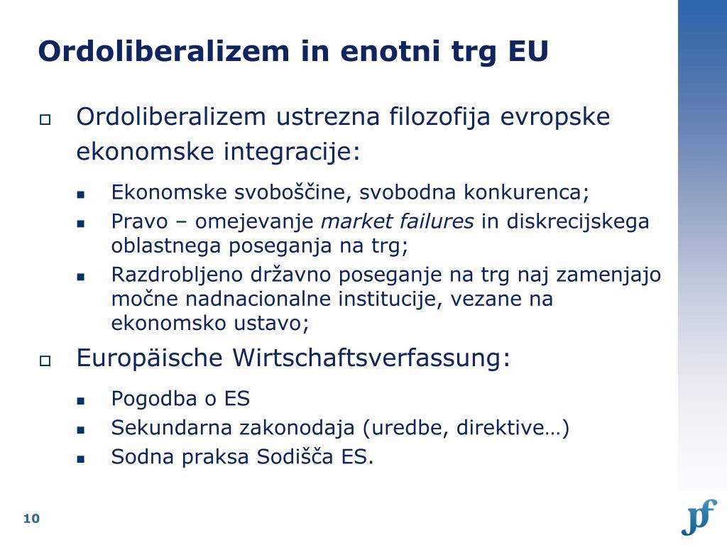 Ordoliberalizem in enotni trg EU
