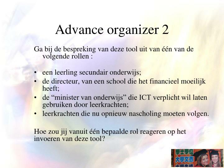 Advance organizer 2