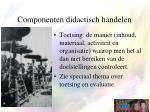 componenten didactisch handelen4
