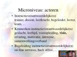 microniveau actoren