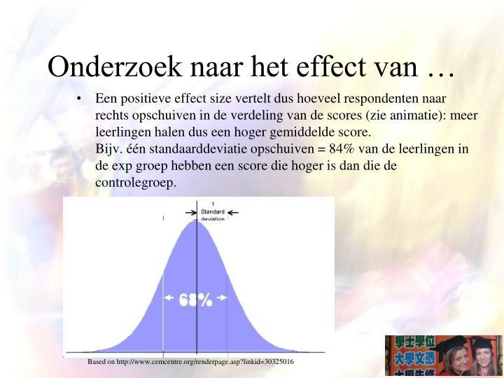 Onderzoek naar het effect van …