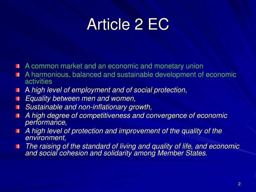 Article 2 EC