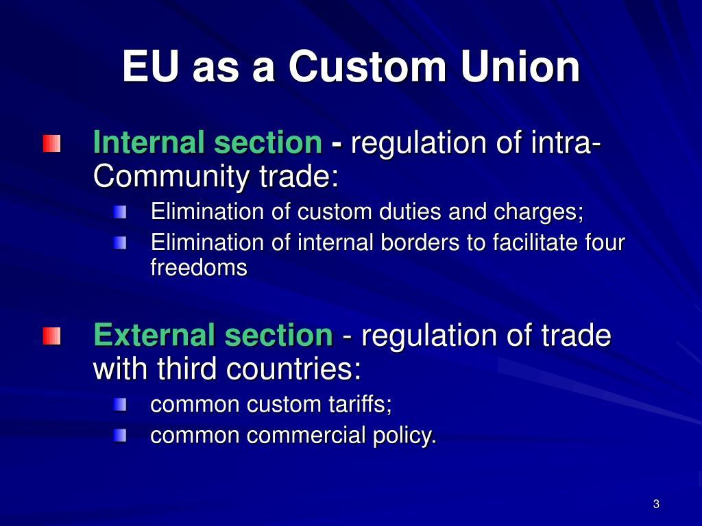 EU as a Custom Union
