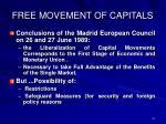 free movement of capitals
