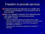 freedom to provide services24