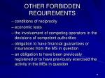 other forbidden requirements