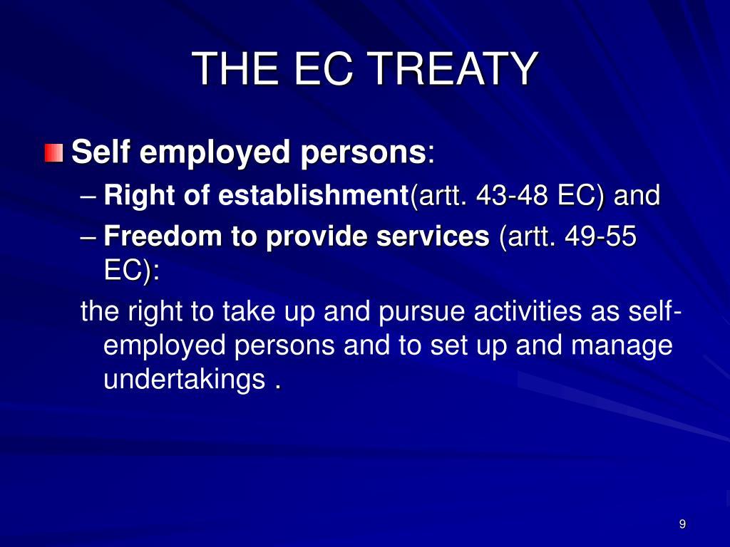 THE EC TREATY