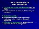 the foundations of free movement