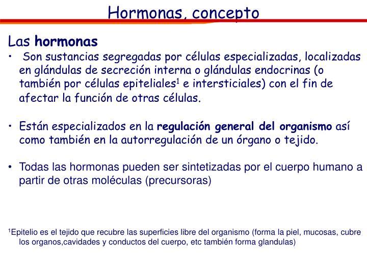 Hormonas, concepto