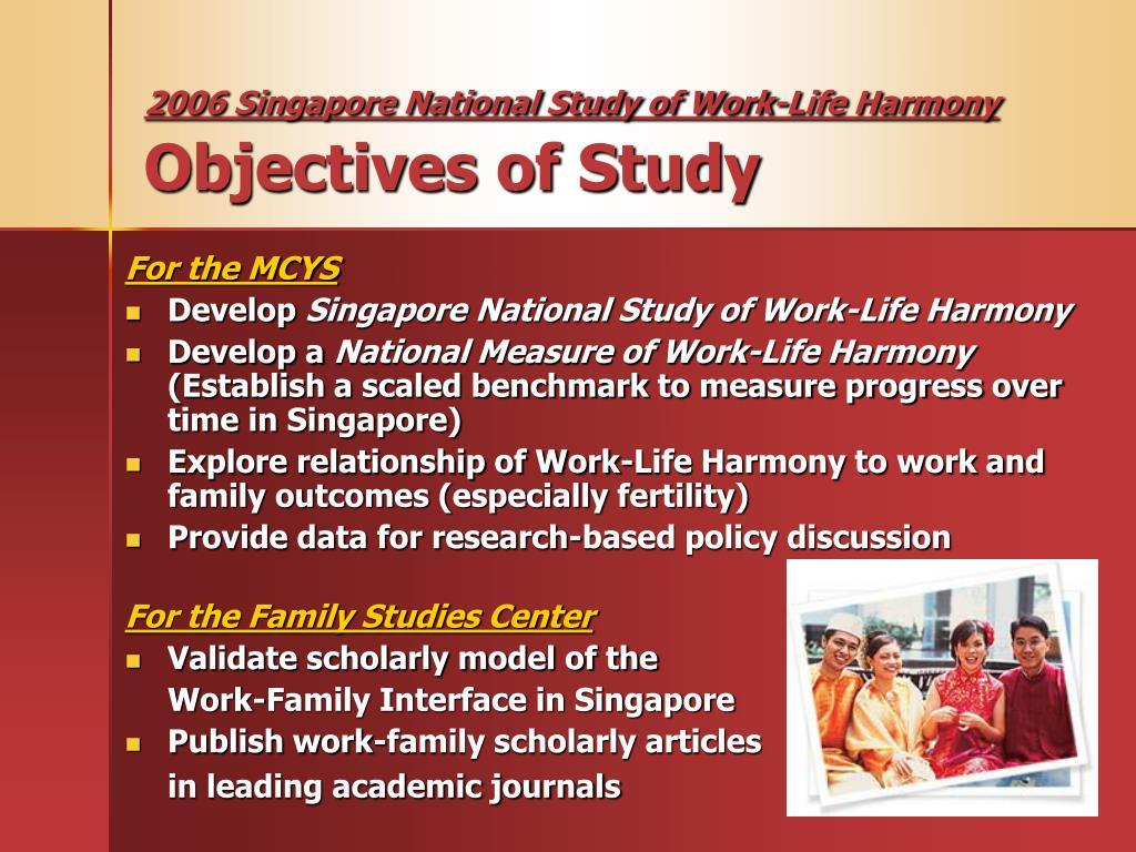 2006 Singapore National Study of Work-Life Harmony