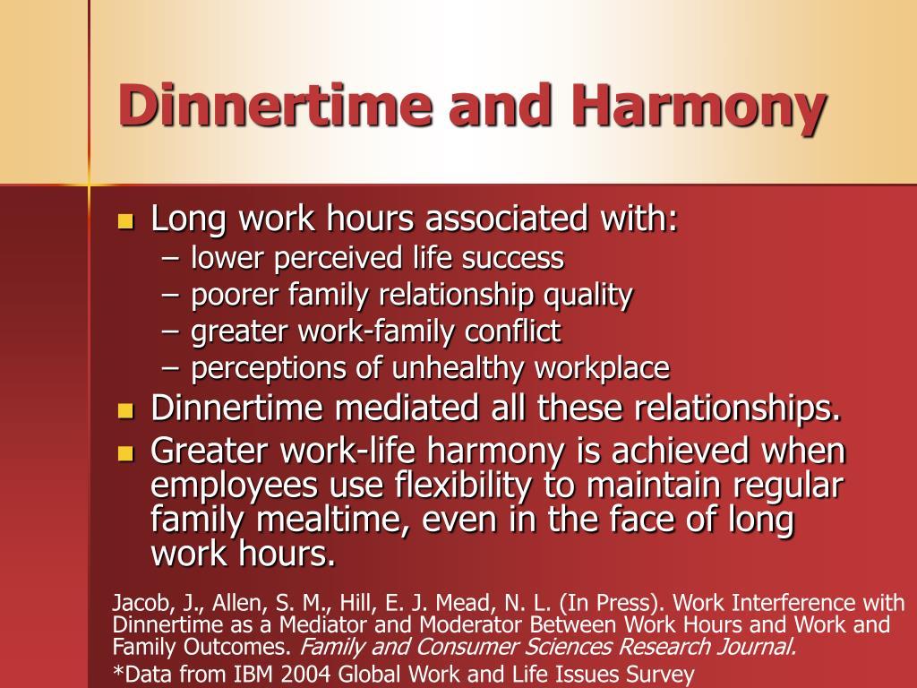 Dinnertime and Harmony