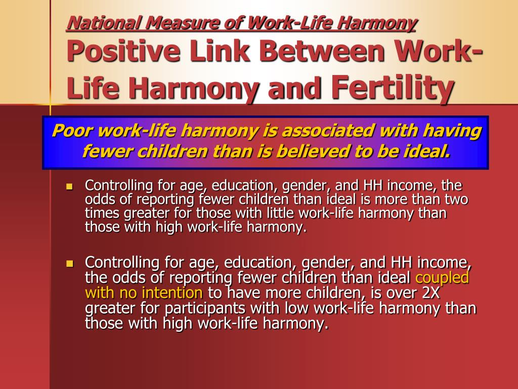 National Measure of Work-Life Harmony