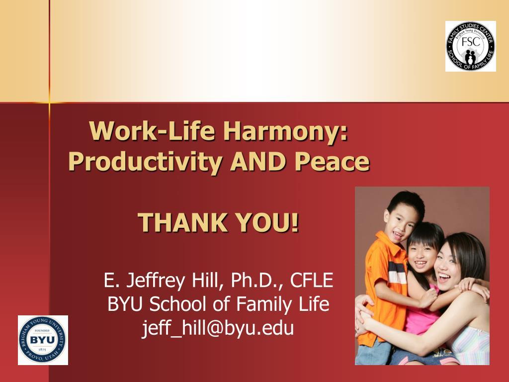 Work-Life Harmony: