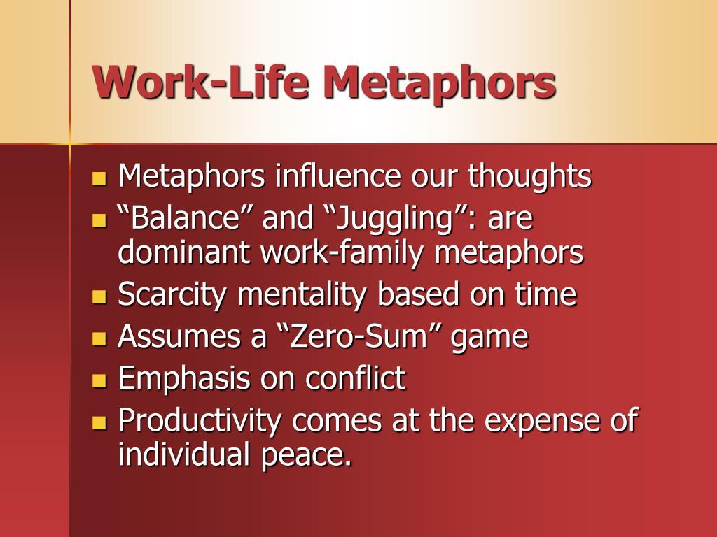Work-Life Metaphors