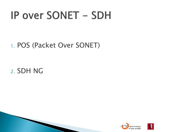 IP over SONET - SDH