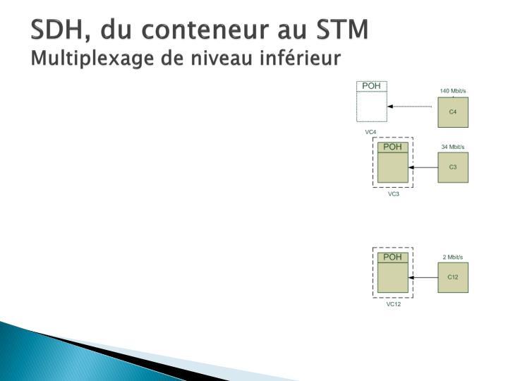 SDH, du conteneur au STM