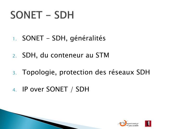 SONET - SDH