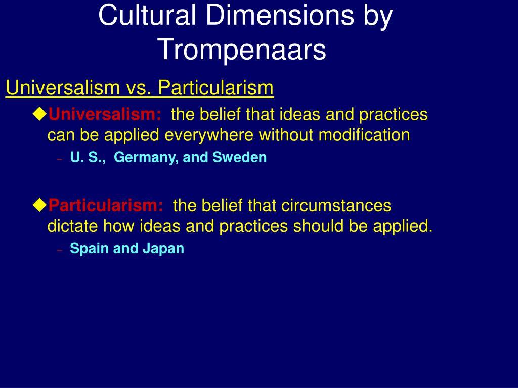 Cultural Dimensions by Trompenaars