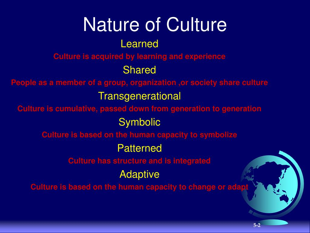 Nature of Culture