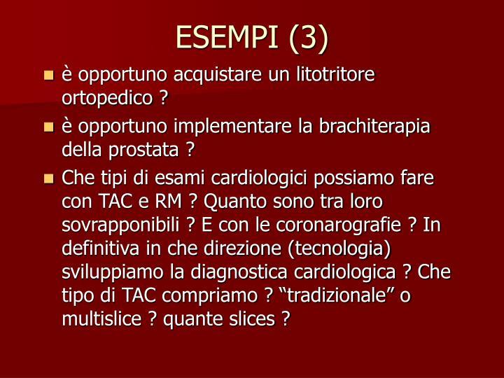 ESEMPI (3)