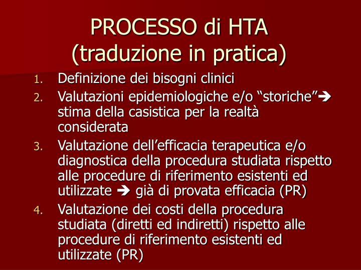 PROCESSO di HTA