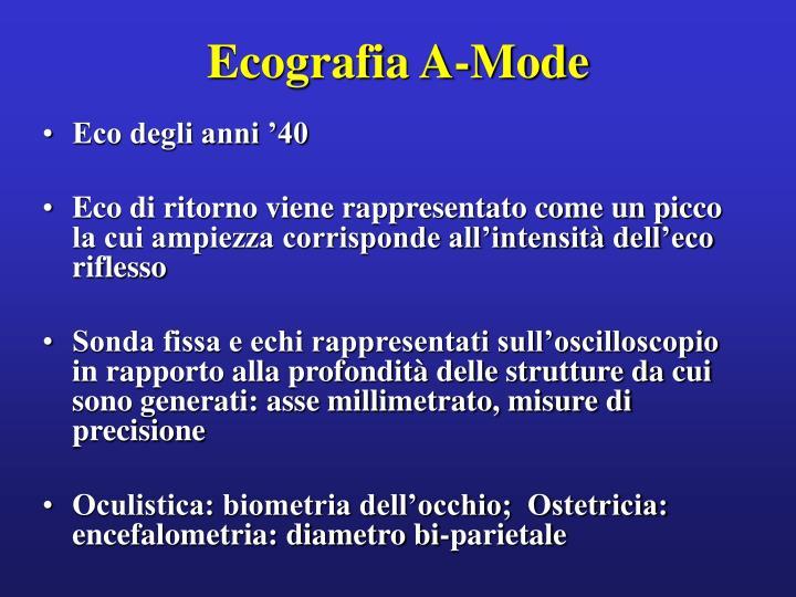 Ecografia A-Mode