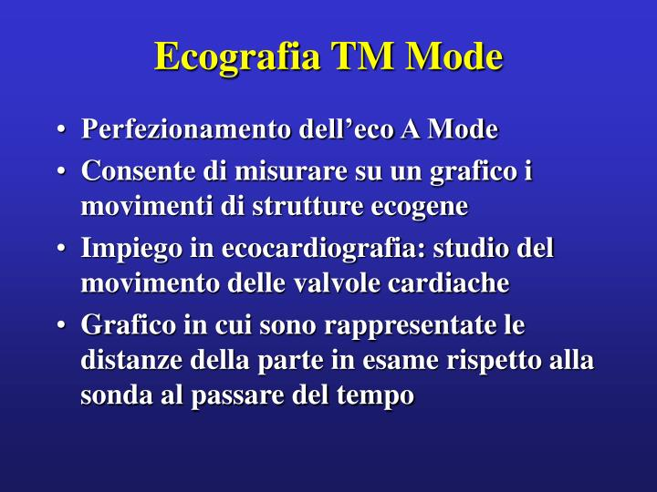 Ecografia TM Mode