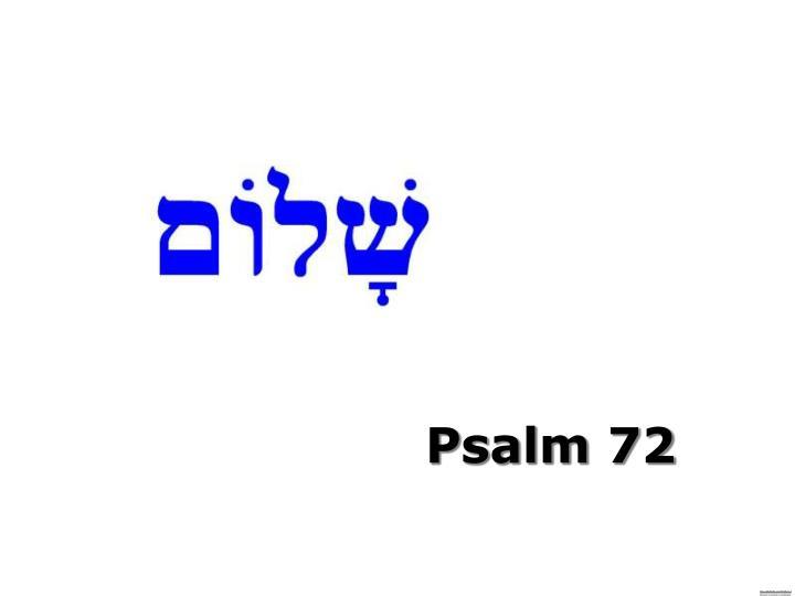 Psalm 72