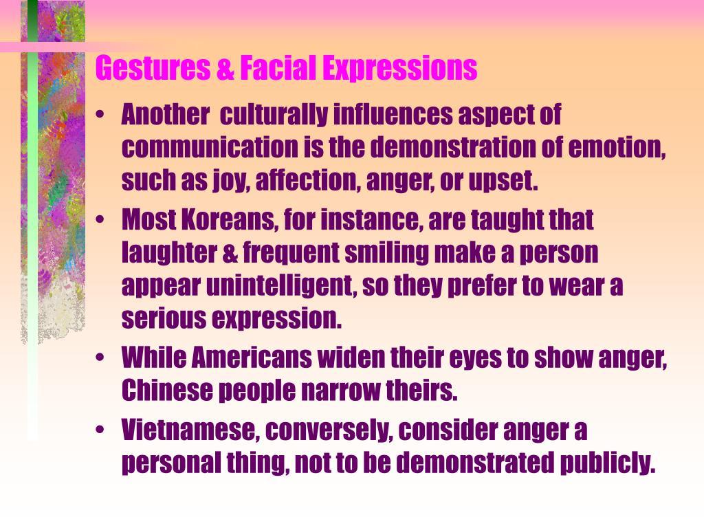 Gestures & Facial Expressions