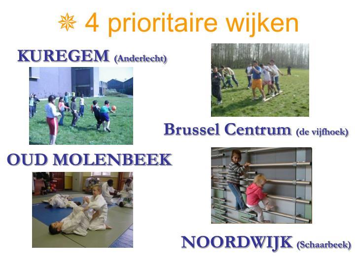 4 prioritaire wijken