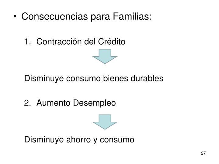 Consecuencias para Familias: