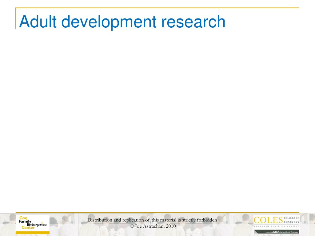 Adult development research