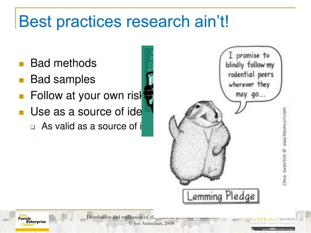 Best practices research ain't!