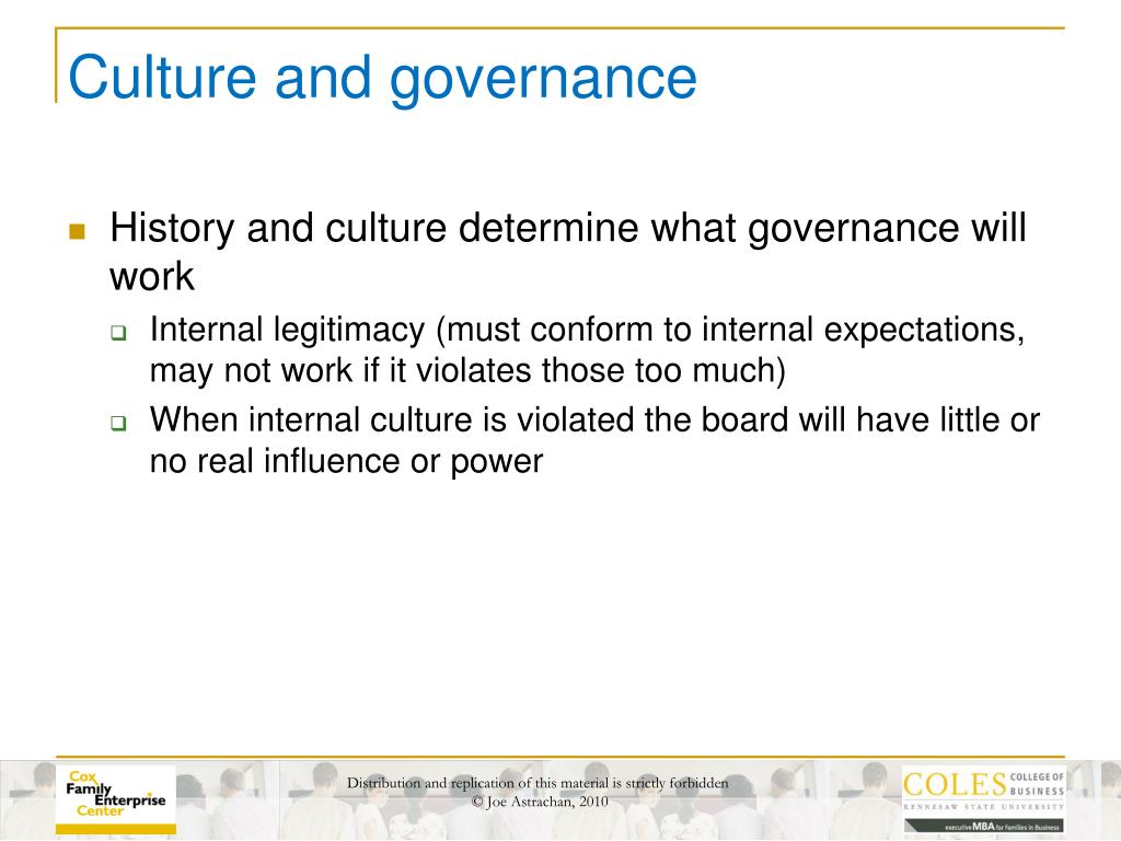 Culture and governance