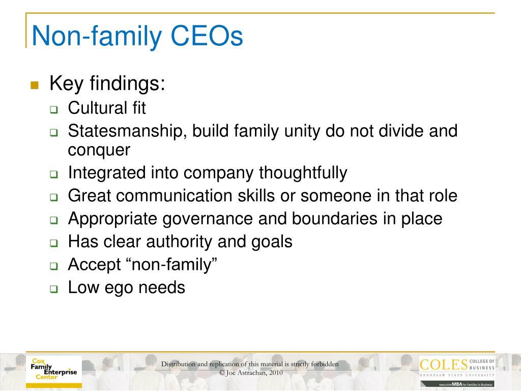 Non-family CEOs
