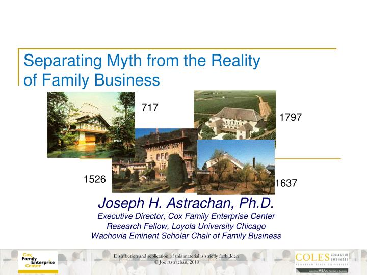 Separating myth from the reality of family business