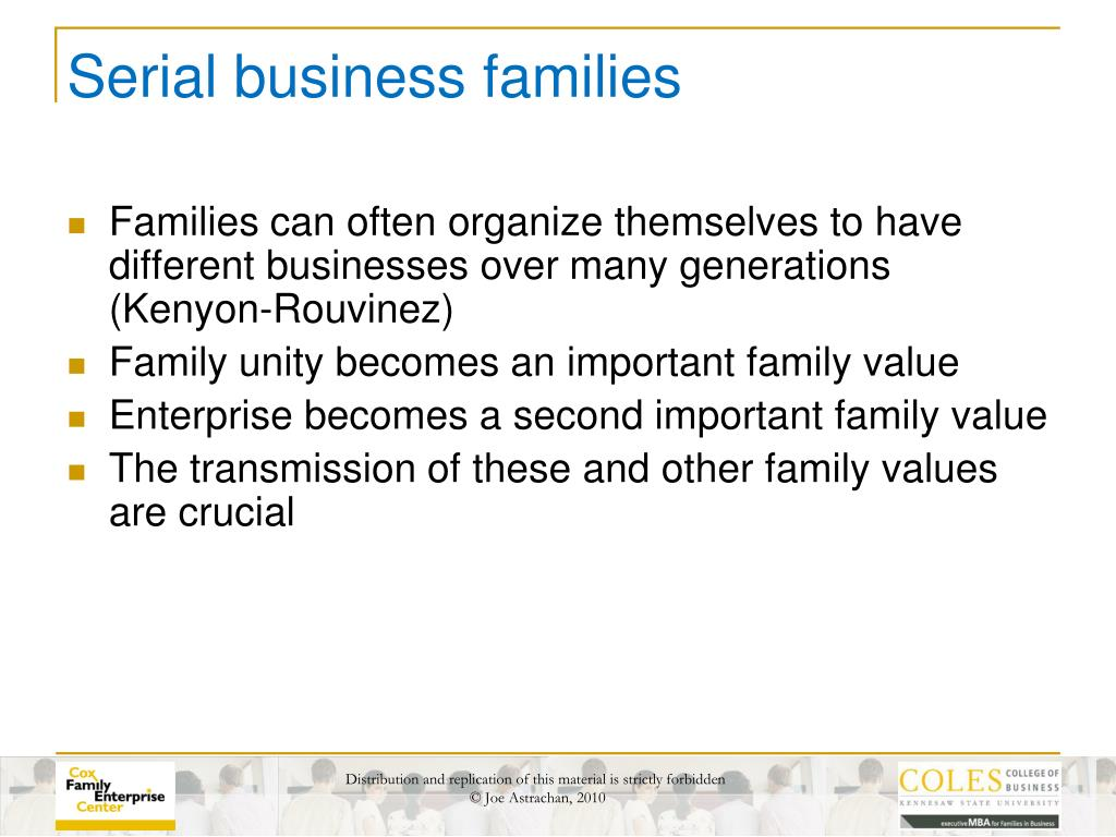 Serial business families