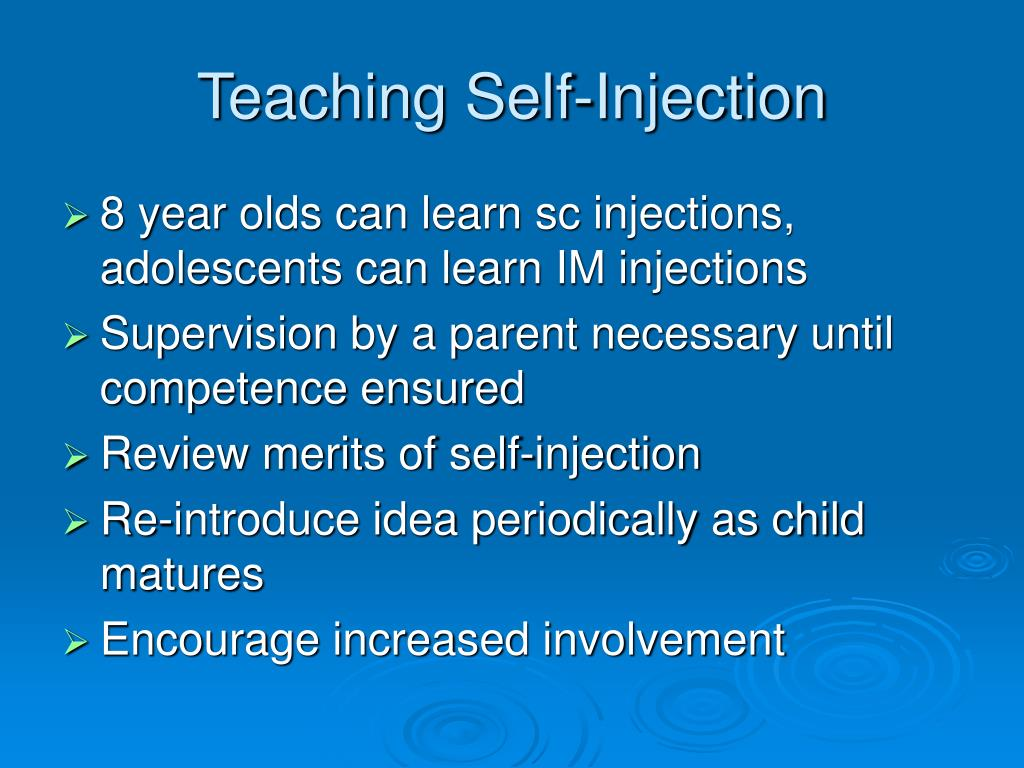 Teaching Self-Injection