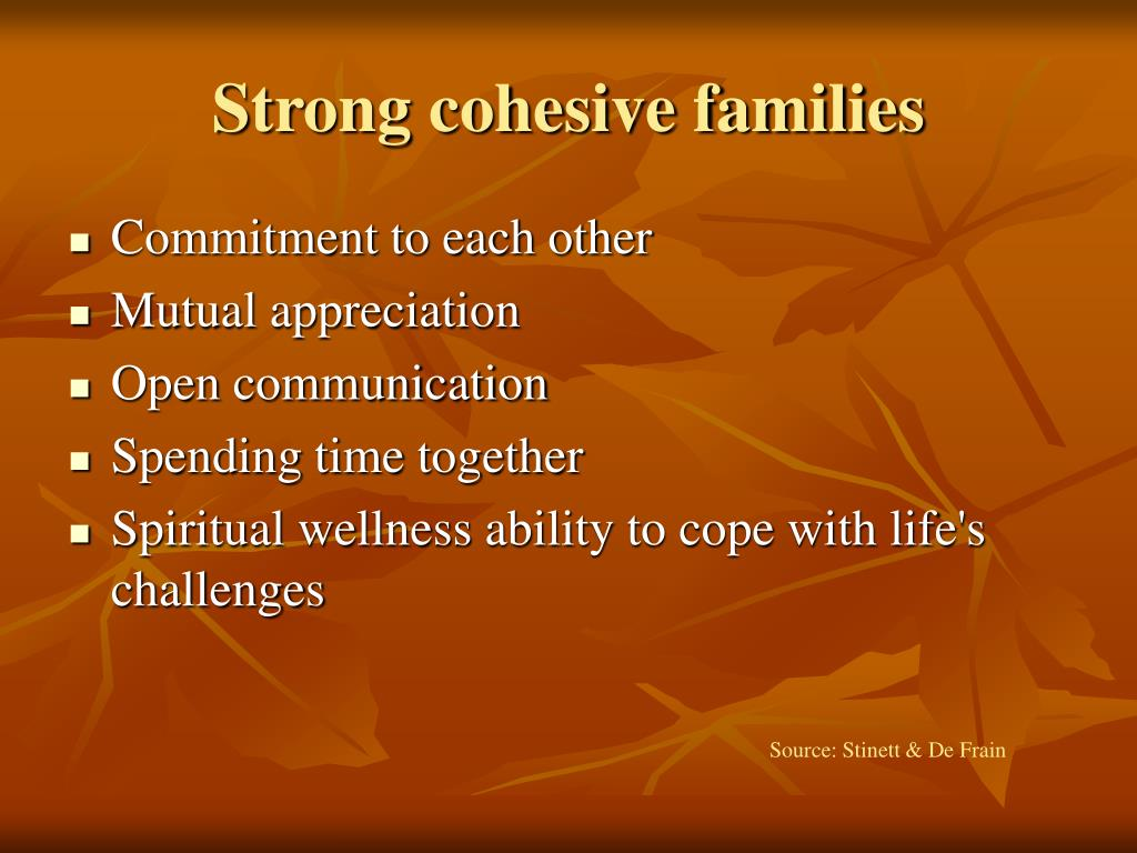 Strong cohesive families