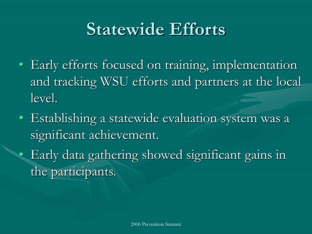 Statewide Efforts