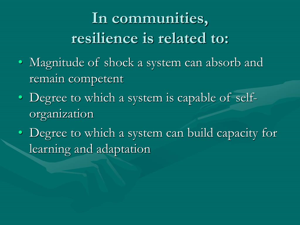In communities,