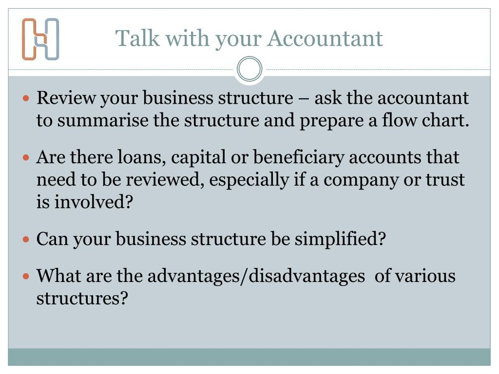 Talk with your Accountant