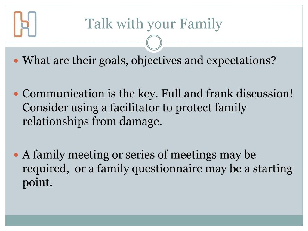 Talk with your Family