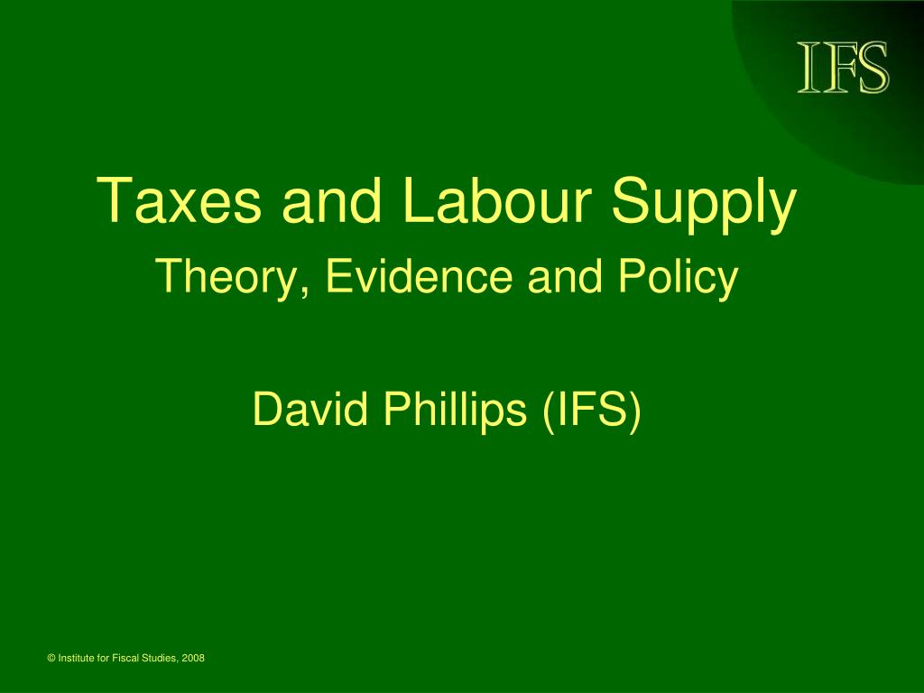 Taxes and Labour Supply