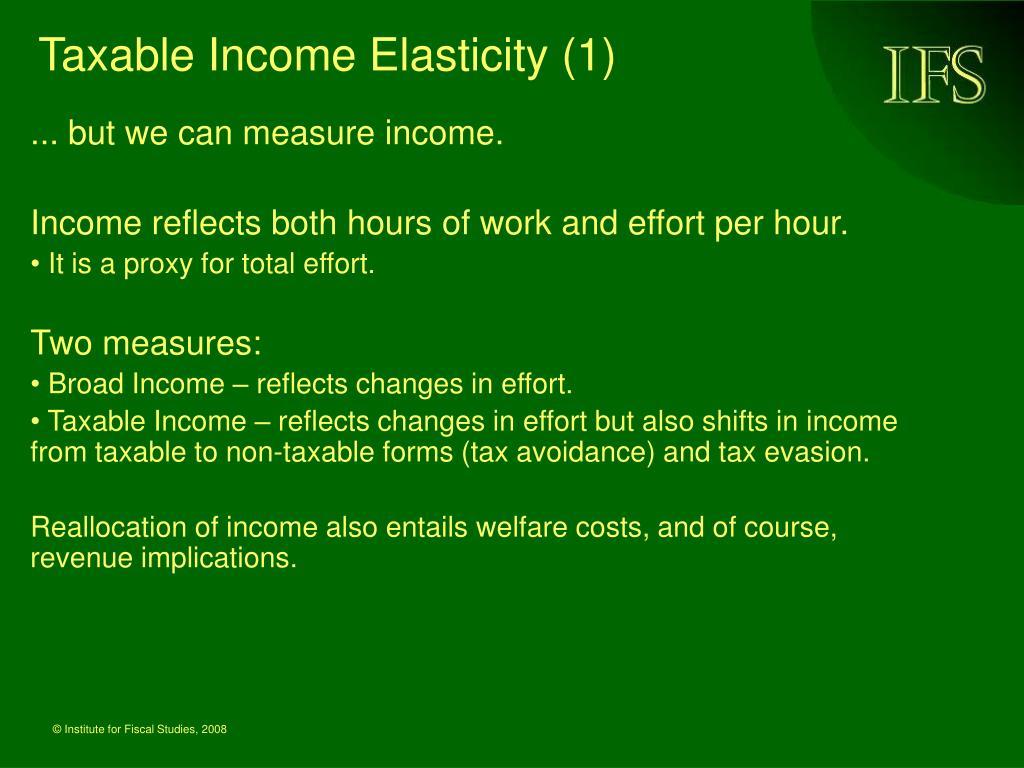 Taxable Income Elasticity (1)