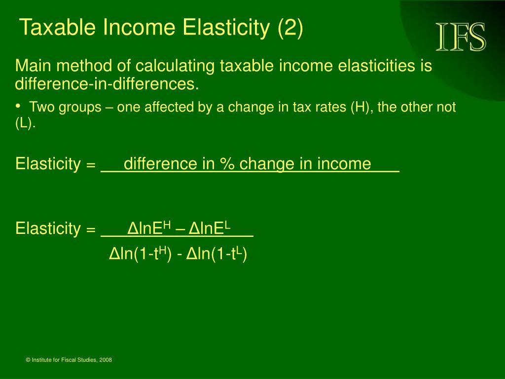 Taxable Income Elasticity (2)